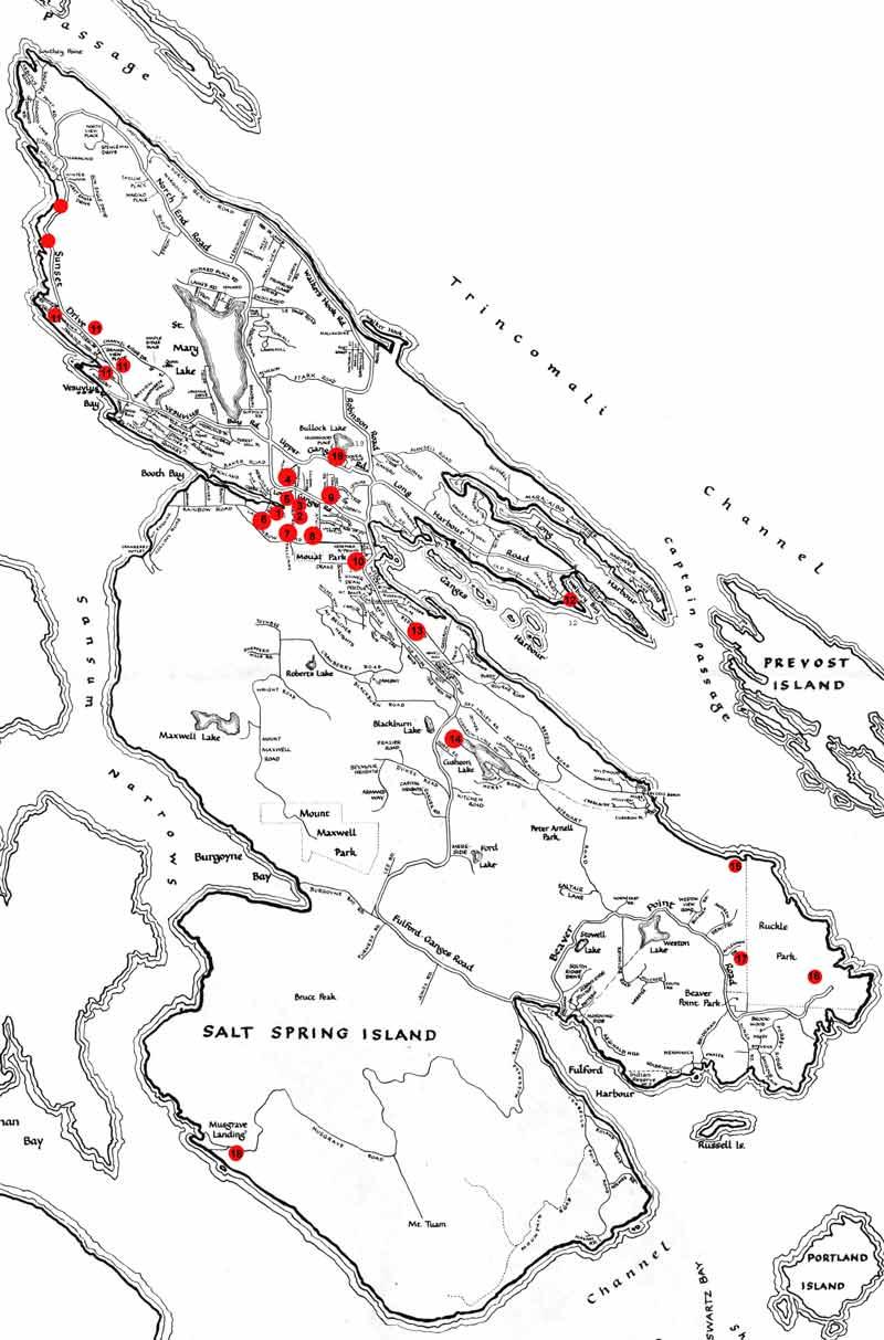 Map Of Salt Spring Island Salt Spring Island Map